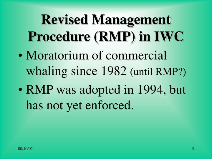 Revised management procedure rmp in iwc