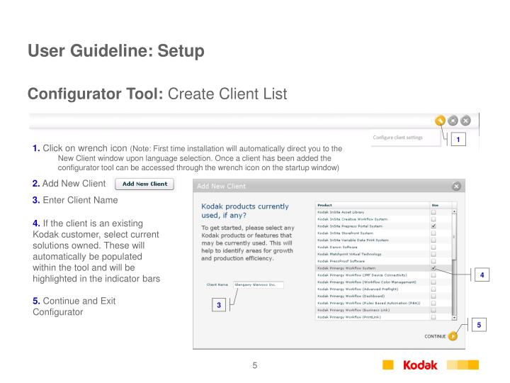 User Guideline: Setup
