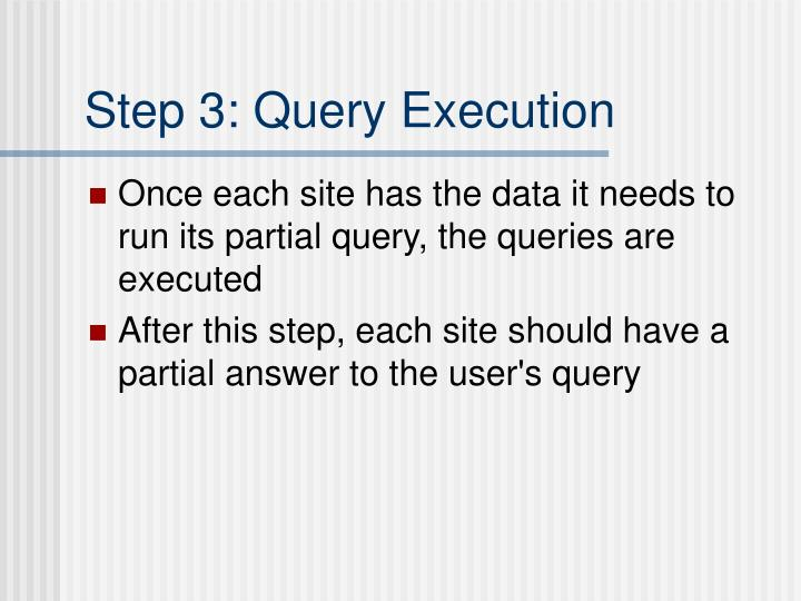 Step 3: Query Execution
