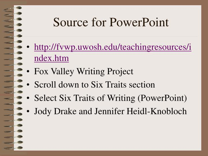Source for PowerPoint