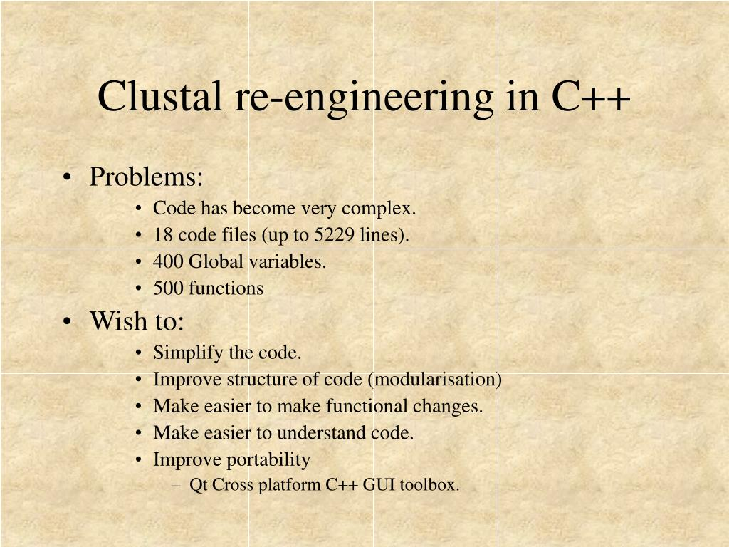 Clustal re-engineering in C++