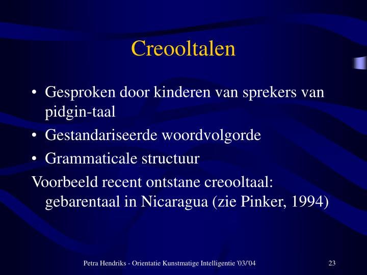 Creooltalen