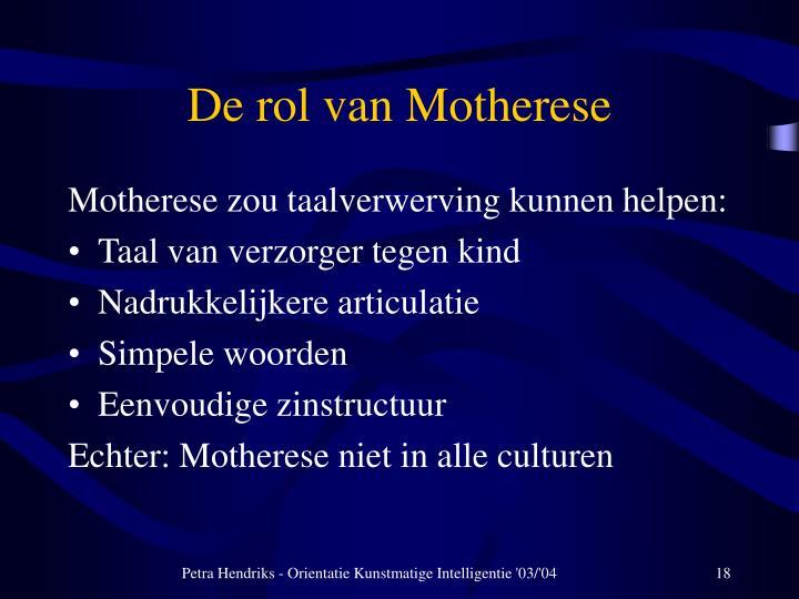 De rol van Motherese