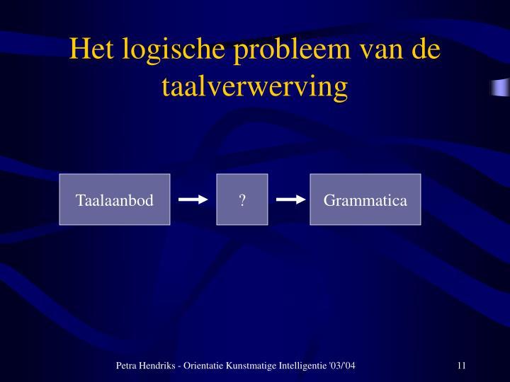 Het logische probleem van de taalverwerving
