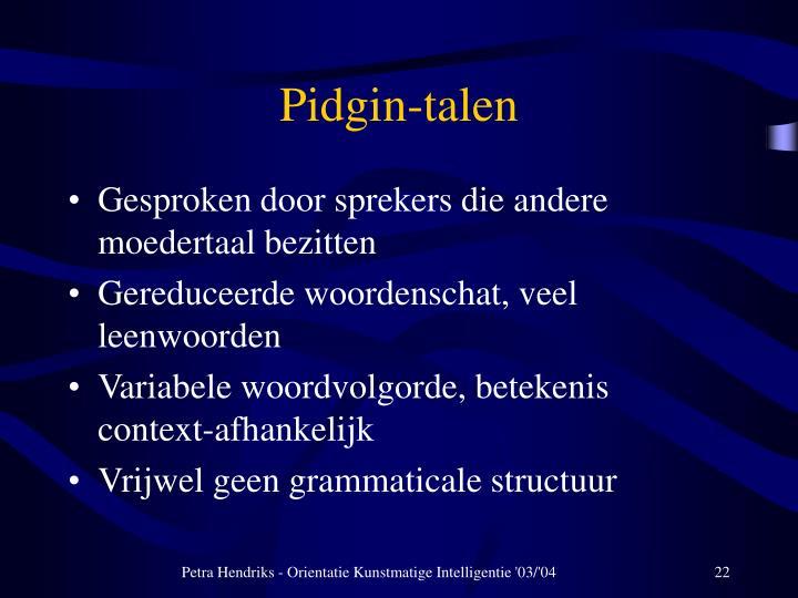 Pidgin-talen