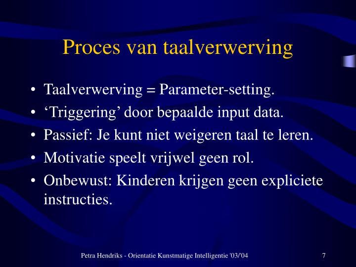 Proces van taalverwerving