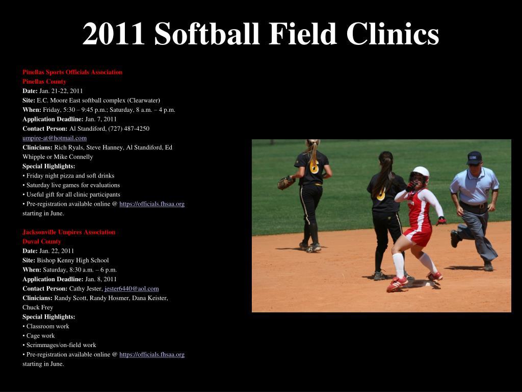 2011 Softball Field Clinics