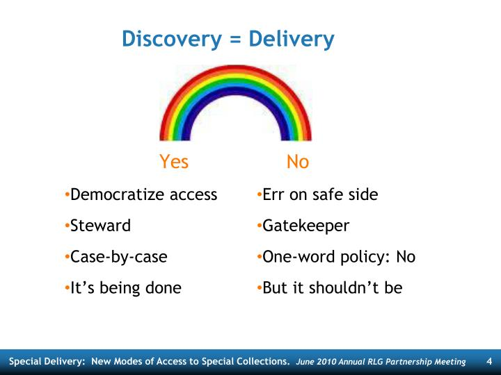Discovery = Delivery