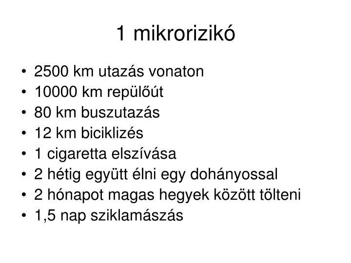 1 mikrorizikó