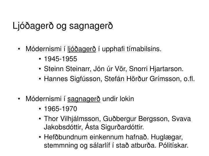Ljóðagerð og sagnagerð