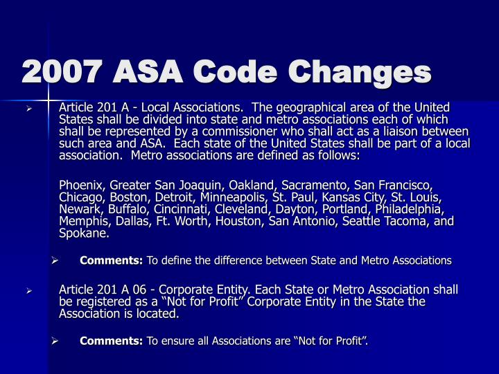 2007 asa code changes3