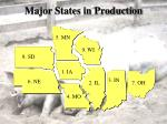 major states in production