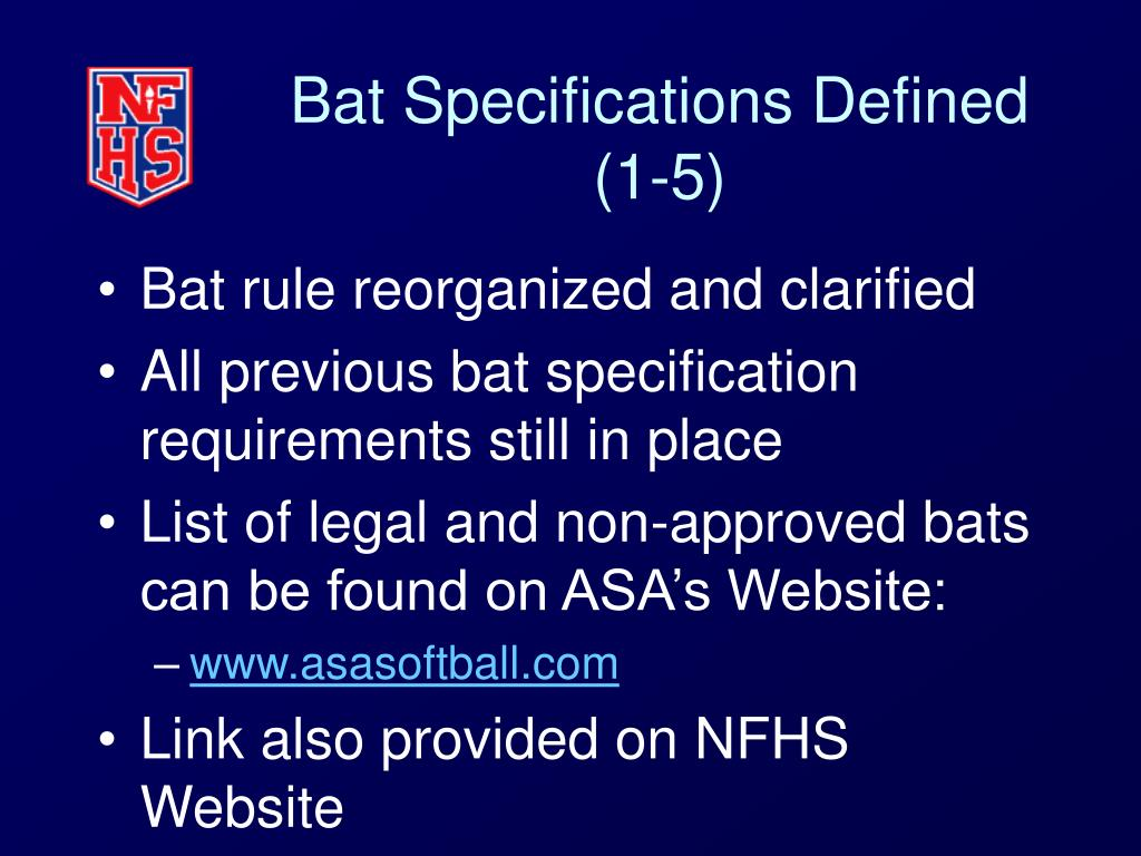 Bat Specifications Defined