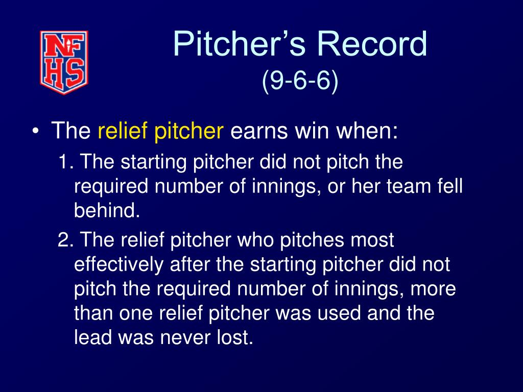 Pitcher's Record
