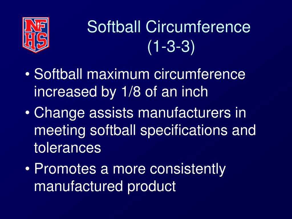 Softball Circumference