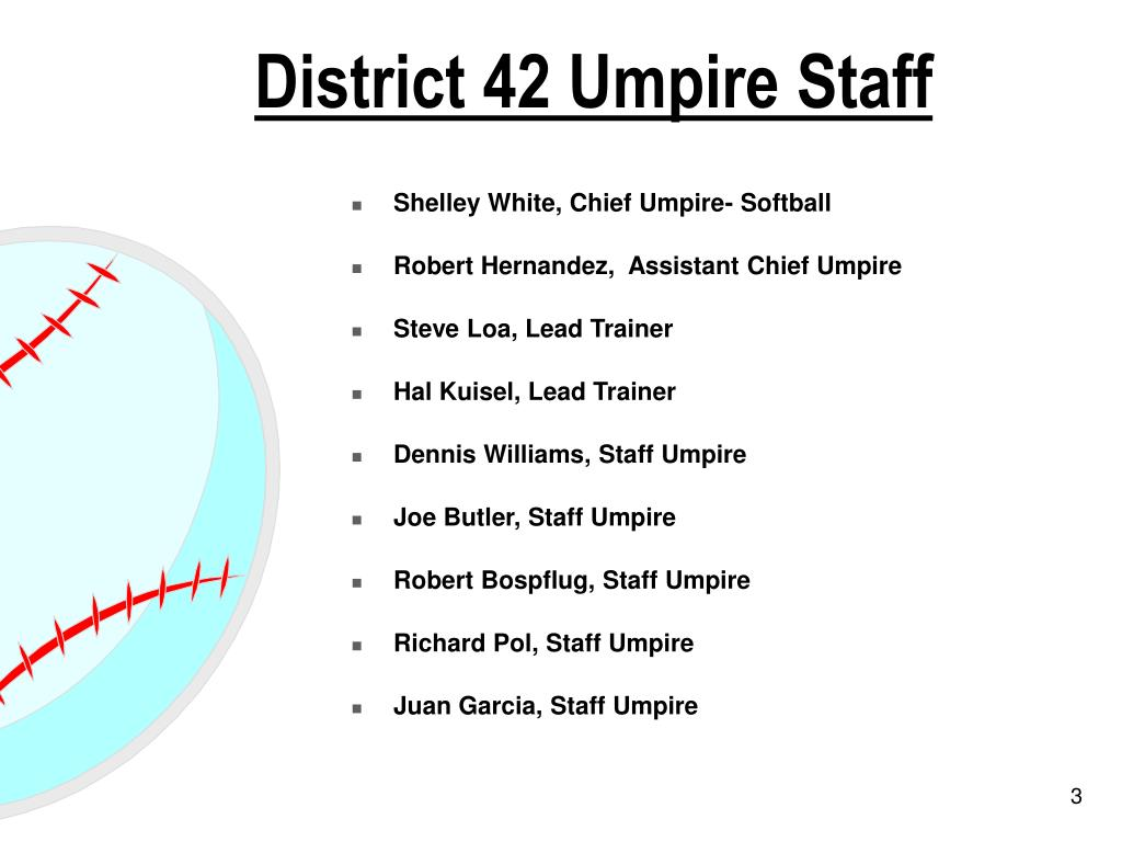 District 42 Umpire Staff