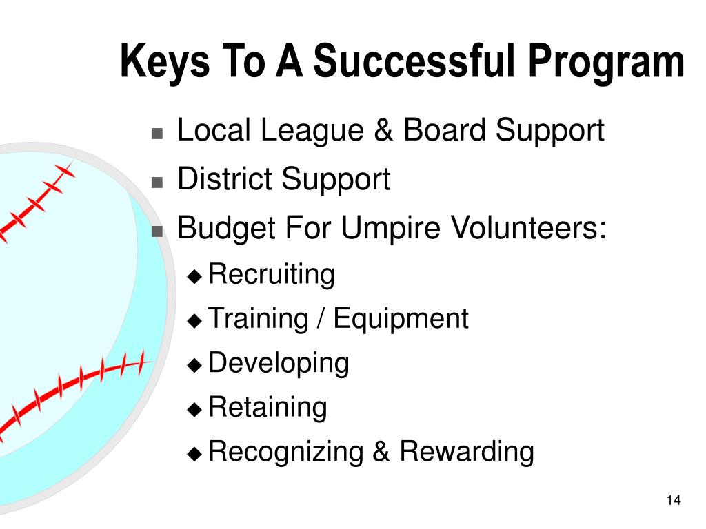 Keys To A Successful Program
