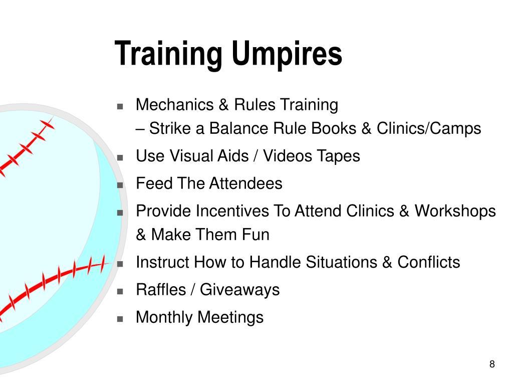 Training Umpires