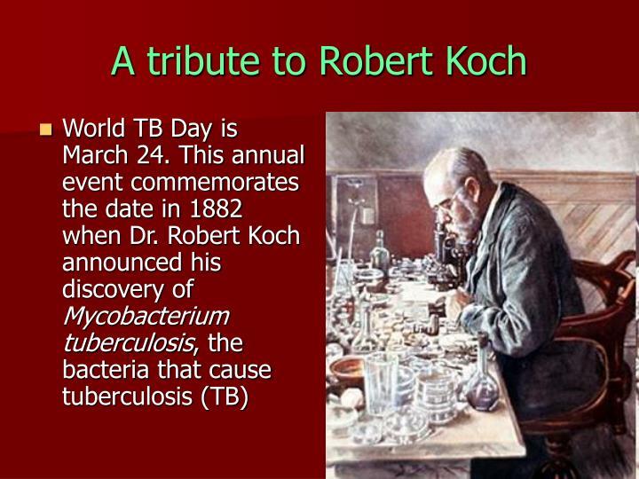 A tribute to Robert Koch