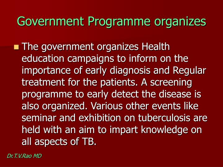 Government Programme organizes