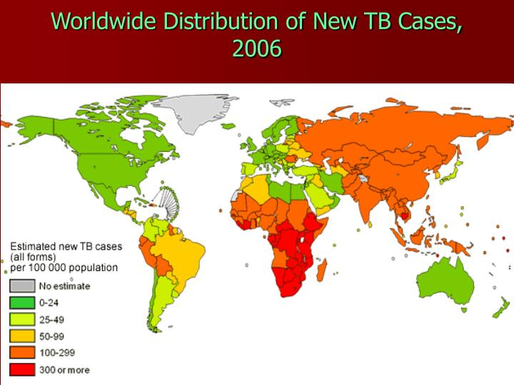 Worldwide Distribution of New TB Cases, 2006