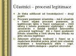 astn ci procesn legitimace