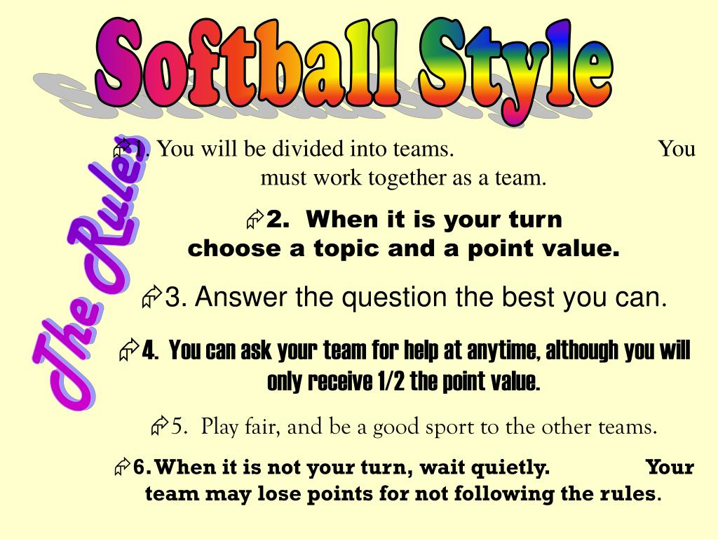 Softball Style