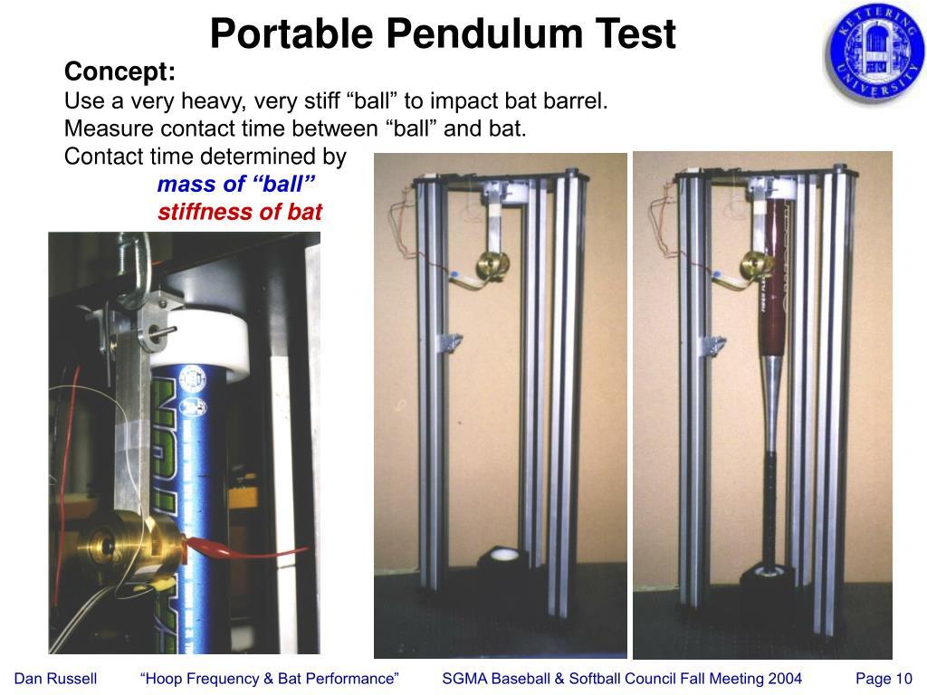 Portable Pendulum Test