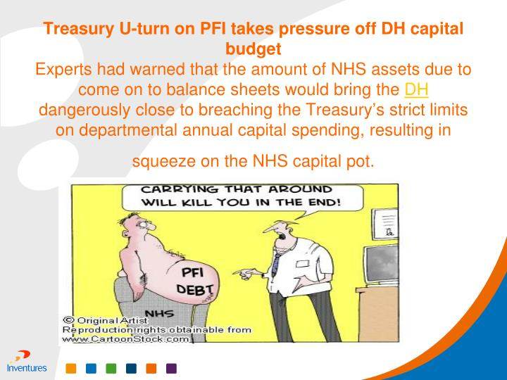 Treasury U-turn on PFI takes pressure off DH capital budget