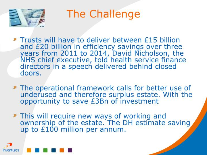 Trusts will have to deliver between £15 billion and £20 billion in efficiency savings over three years from 2011 to 2014, David Nicholson, the NHS chief executive, told health service finance directors in a speech delivered behind closed doors.