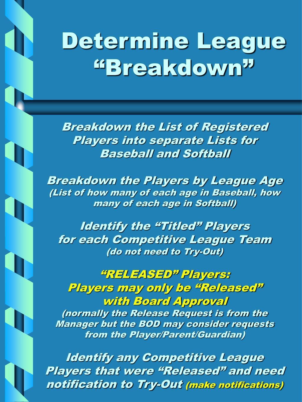 """Determine League """"Breakdown"""""""