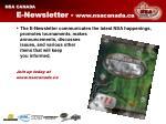 e newsletter www nsacanada ca
