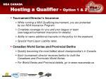 hosting a qualifier option 1 2