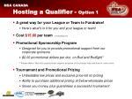 hosting a qualifier option 1