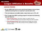 league affiliation benefits12