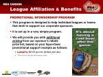 league affiliation benefits13
