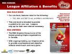 league affiliation benefits14