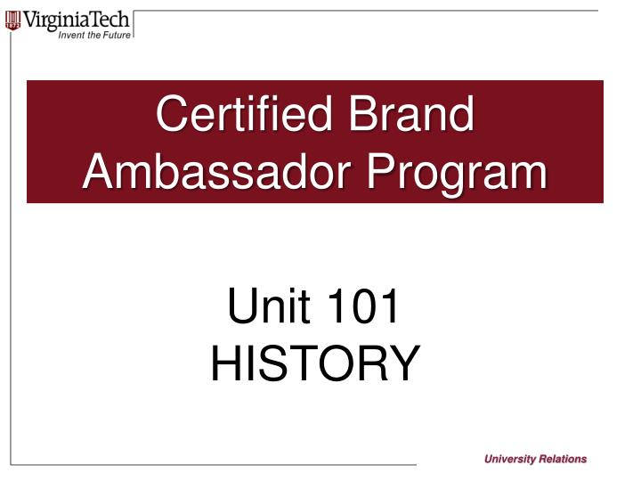 Certified Brand Ambassador Program
