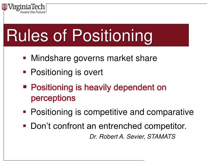 Rules of Positioning