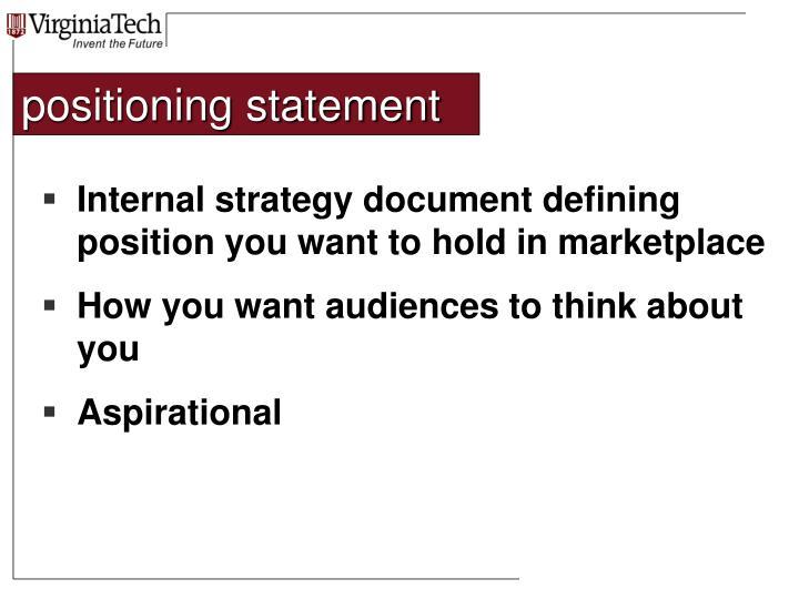 positioning statement