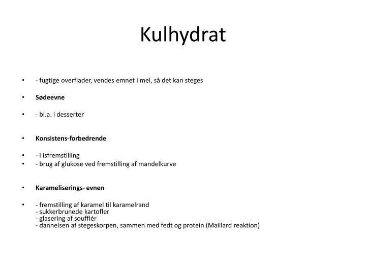 Kulhydrat