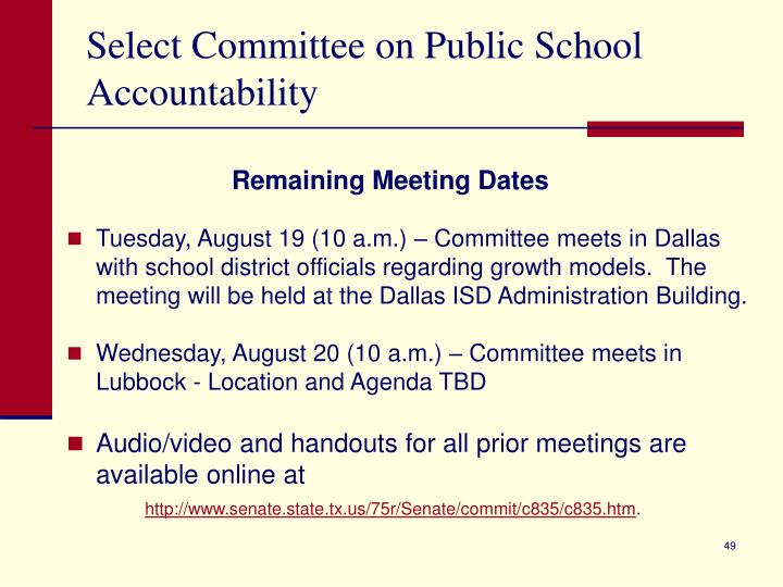 Select Committee on Public School Accountability
