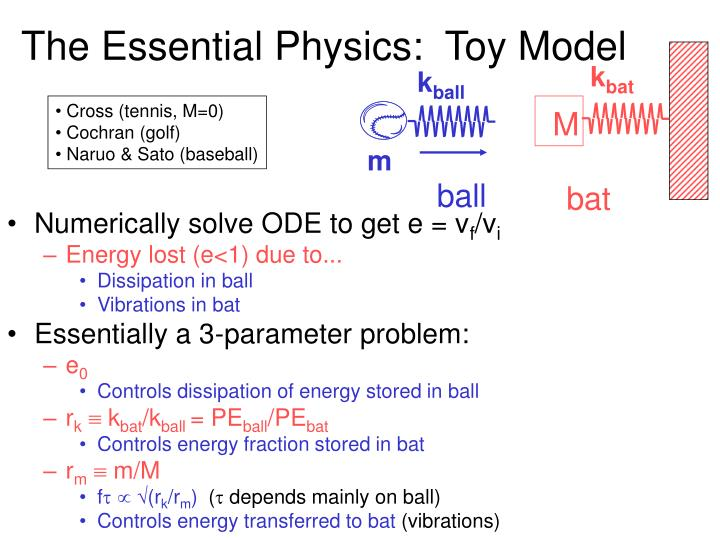The essential physics toy model