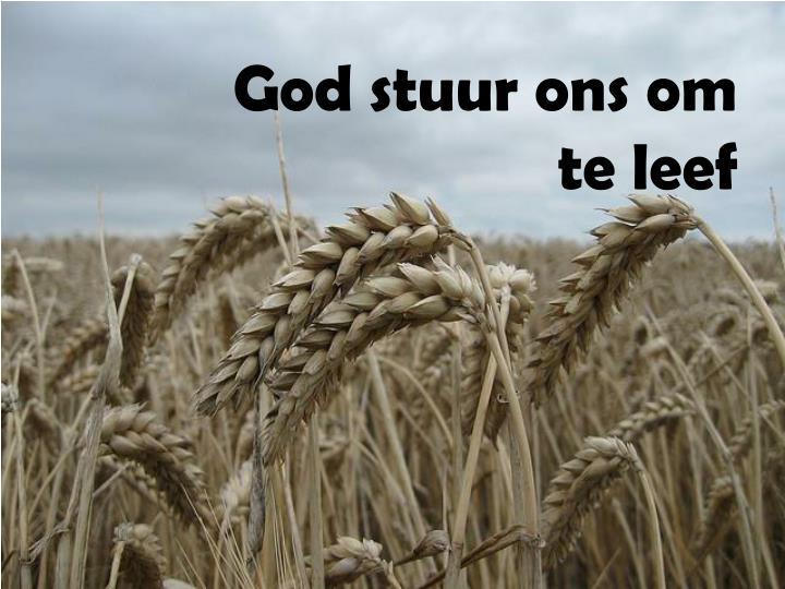 God stuur ons om te leef