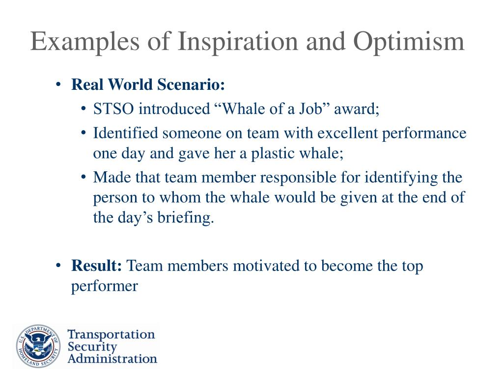 Examples of Inspiration and Optimism
