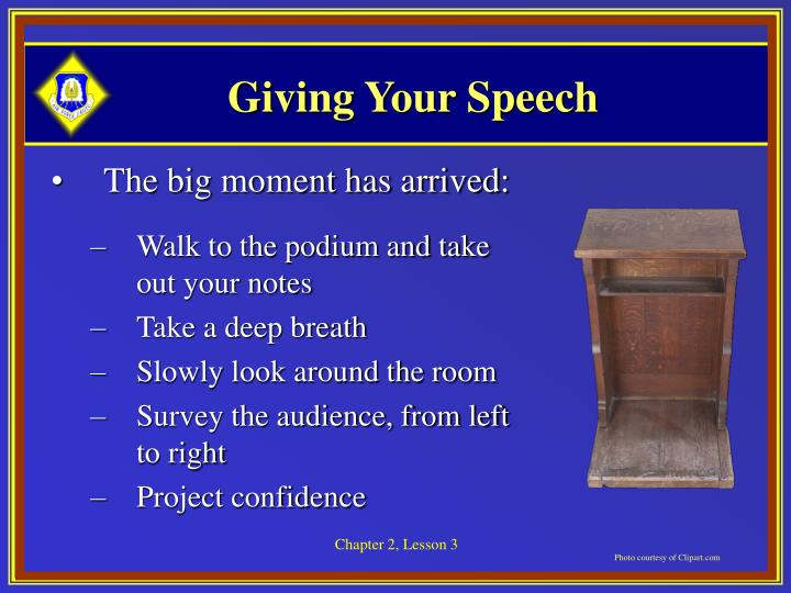 Giving Your Speech