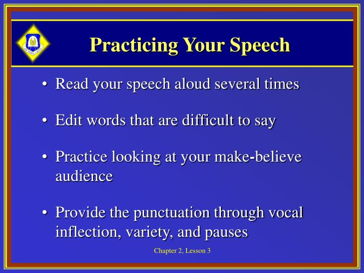 Practicing Your Speech