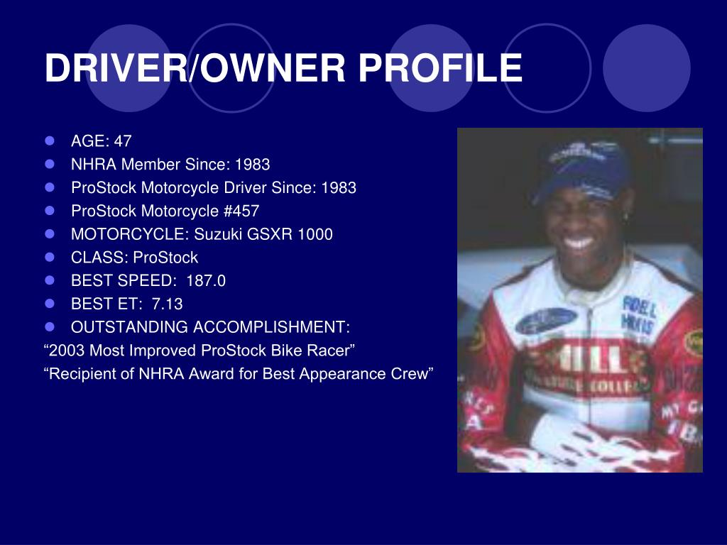 DRIVER/OWNER PROFILE