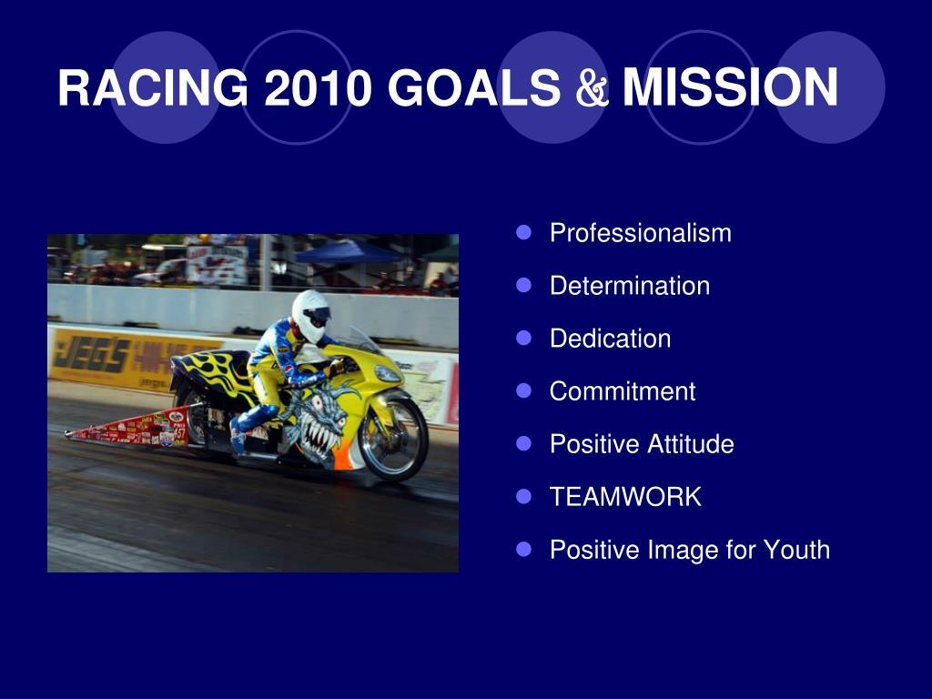 RACING 2010 GOALS