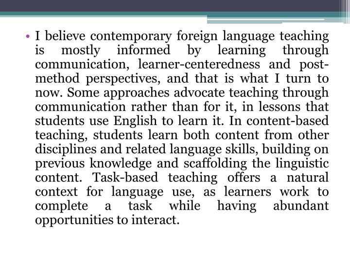 approach method and technique in efl